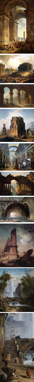 вопрос 11: и мой любимчик Хюберт Робер и его постапокалиптические картины древности