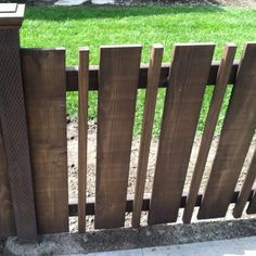 contemporary picket fence - Google Search