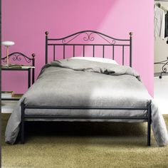 Giulia Bed by Cosatto This single bed is perfect for a shabby-chic-furnished room. It is very elegant, and the wrought iron frame allows the bed to be very resistant and reliable. The design is simple and reminds of the old traditional Italian wrought iron bed, with a touch of modernity.