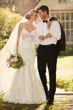 Style D2042 Essense of Australia #weddingdress #lace #sweetheart