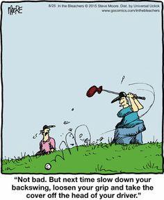 Golf Quotes In the Bleachers Comic Strip, Thema Golf, Steve Moore, Golf Wedges, Golf Etiquette, Golf Art, Online Comics, Golf Quotes, Golf Sayings, Dolphins