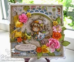 Card with Wee Stamps' Daphne, more details and pictures on my blog: http://sendingyoualittlesmile.blogspot.nl/2014/05/wee-stamps-daphne.html