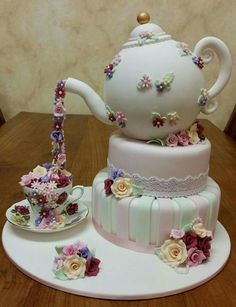 Cupcake Cookies Teapot Cupcakes Birthday Cake For Mother Female Cakes