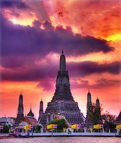 Wat Arun, Bangkok, Thailand. I used to pass this everyday on my way to work. I had to take a water taxi (a boat down the river).