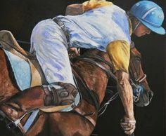 Horse and knight, 100x120 cm, oil on canvas
