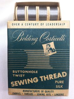 Vintage Silk Thread 12 Spools Antique Nickell Belding Corticelli Butonhole Twist 19.99+2.75 Silk Thread, Silk Fabric, Vintage Sewing, Pure Products, Antiques, Vintage Couture, Antiquities, Antique, Old Stuff