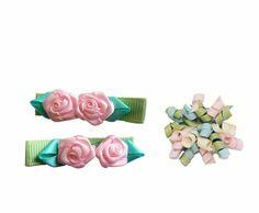 NeedyBee Pretty Rose Clip Combo!  #hairaccessories #kidsaccessories
