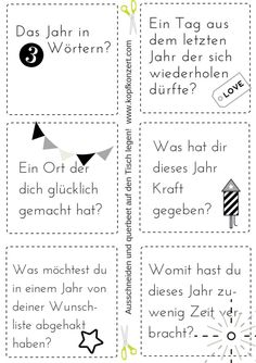 Silvester-Partyspiel, Tischdeko, Silvester & Freunde, Fragen für Silvester - Lo Que Necesitas Saber Para La Fiesta Party Table Decorations, New Years Decorations, Decoration Table, Halloween Decorations, Questions For Friends, This Or That Questions, Party Questions, Nye Party, Games