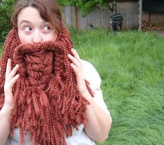 Epic crocheted beard/mustache scarf