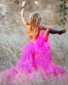 I wanna dance in a meadow in a hot pink tutu!!!  strong & pink