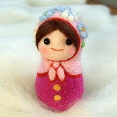 Needle Felt Matryoshka Russian Nesting Doll