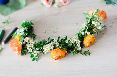 DIY Blumenkranz binden von Schokoladenseite Portrait- und Hochzeitsfotografie