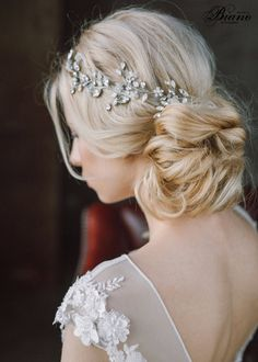 Wedding Headpiece, Bridal Hair Piece,Bridal Headpiece, Wedding Hairpiece, Crystals Hair Vine, Bridal Hairpiece, Wedding Halo, Wedding Wreath by BianoAccessories on Etsy