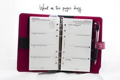 "Blog post about how I set up my Filofax, the Filofax ""The Original"" in patent fuchsia, personal size"