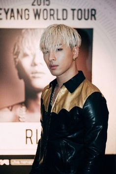 Taeyang looking yummy with blonde hair