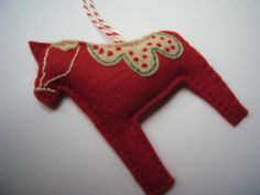#Felt Dala Horse by noodleBubble, via Flickr