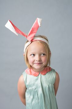 DIY bunny ears twist wrap | via The House That Lars Built