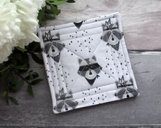 Fabric Coasters Quilted Coaster Set Table Coasters Home