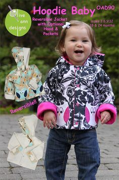 HOODIE BABY  Multi-sized Sewing Pattern for by JustForFun on Etsy