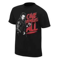 Roman Reigns One Versus All Mens Black T-shirt - http://bestsellerlist.co.uk/roman-reigns-one-versus-all-mens-black-t-shirt/