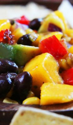 black beans avocado sweet corn chipotle mango salsa with black beans ...