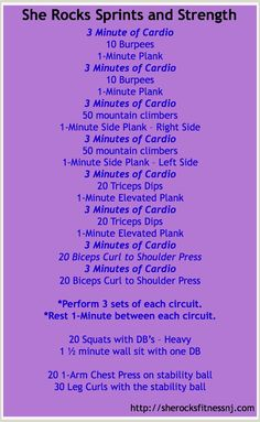 Speed, Strength, and CORE Workout