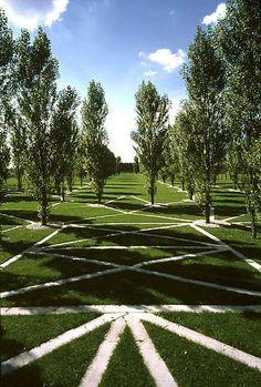 Land-Art: De Groene Kathedraal in Flevoland, Netherlands
