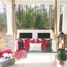 *holiday styled porch swing