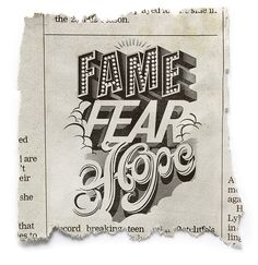 Fame Fear & Hope by Ben Chandler