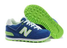 Womens - New Balance 574 Sailing Blue White Green Teal Blue, Blue And White, New Balance 574, Nike Free Runs, Blue Nike, Tiffany Blue, Blue Shoes, Sailing, Running