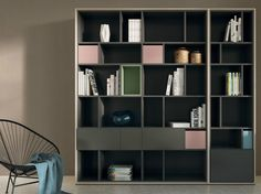 Open lacquered bookcase SCOPIA Scopia Collection by Hülsta-Werke Hüls