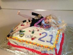 The cake me and Claire made for Jessies 21st