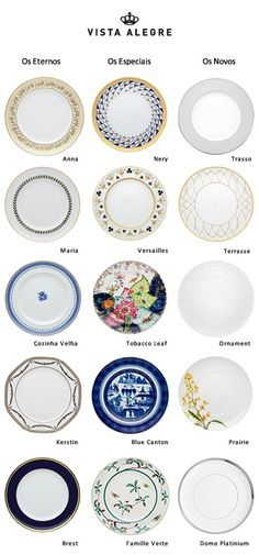 #Portuguese Vista Alegre tableware designs