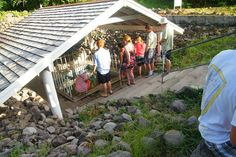 """Nevis hot springs, said to contain medicinal minerals. Locals recommended the """"hot waters' to us when they saw my husband limping from soft tissue injury and me covered with no-see-um bites. A visit here became a daily ritual."""