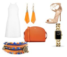 """""""shoulder purse"""" by bethanyyk on Polyvore featuring A.P.C., New Look, Gianvito Rossi, Alexis Bittar and Chanel"""