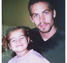 Paul Walker's daughter Meadow has shared a touching throwback photo of her smiling as she sits with her dad.  Meadow can be seen closing her eyes and flashing a toothy grin as she poses with the late Fast and Furious star. MIRROR 4/21/115- Charlotte Wareing