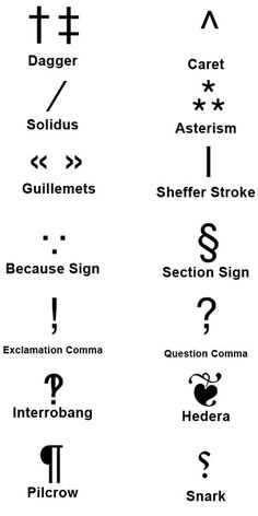 Punctuation. Oh so many lovely punctuation marks that we don't think about quite so often.