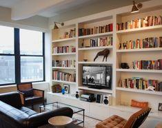 """Résultat de recherche d'images pour """"full wall bookshelves"""""""