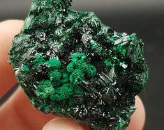 Malachite on Atacamite from Atacama Desert, Chile - atacamite and malachite, rocks and minerals, crystal specimens, mineral specimens, gems