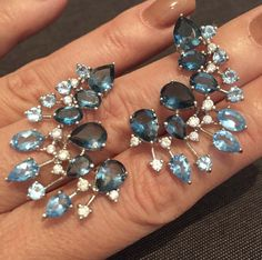 Jewelry Tools, Fine Jewelry, Jewelry Design, Gemstone Jewelry, Diamond Jewelry, Diamond Earrings, Diamond Tops, Sapphire Pendant, Color Stone