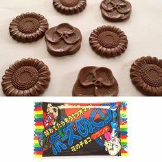 #BFJCajaJunio Adorable chocolate crocante en forma de flor. www.boxfromjapan.com  Adorable flower-shaped crunchy chocolate.  #BFJJuneBox #chocolate #BoxFromJapan
