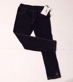 NEW Girls Calvin Klein Blue Skinny Jean Jeggings Leggings Size 6x  | eBay