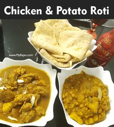Jamaican Roti Recipe, Roti Recipe Guyanese, Jamaican Curry Chicken, Jamaican Dishes, Jamaican Recipes, Organic Recipes, Raw Food Recipes, Lunch Recipes, Indian Food Recipes