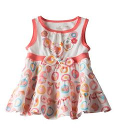 Cupcake Summer Dress |  Available exclusively online from Hallmark Baby, beautiful Baby clothes including these Baby Girl Cupcake Summer Dress made of 100% soft brushed cotton