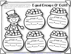 Printables Equal Groups Multiplication Worksheets models activities and student on pinterest equal groups o gold multiplication worksheet free from around the kampfire