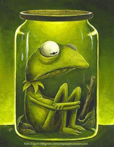 FROG IN A JAR CLIP ART