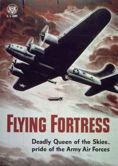 US B-17 Flying Fortress poster, WWII