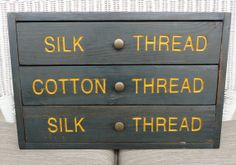 Vintage Thread Cabinet  Wood Storage by BluePawRelicsnResto, $60.00