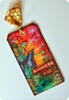 Mixed Media | Stamping | Tags | Creative Scrapbooker Magazine  #mixedmedia #stamping