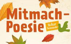Plakatmotiv Poetische Herbstaktion